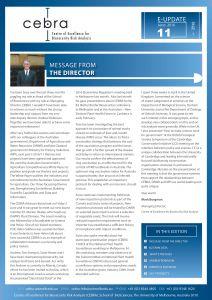 CEBRA newsletter June 2016